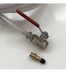 Verloop nippel vg8 bandenventiel naar 1/4 npt